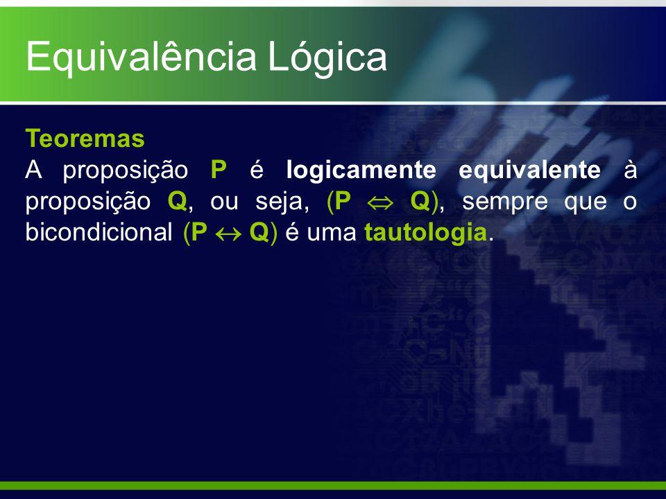 Equivalência Lógica Teoremas