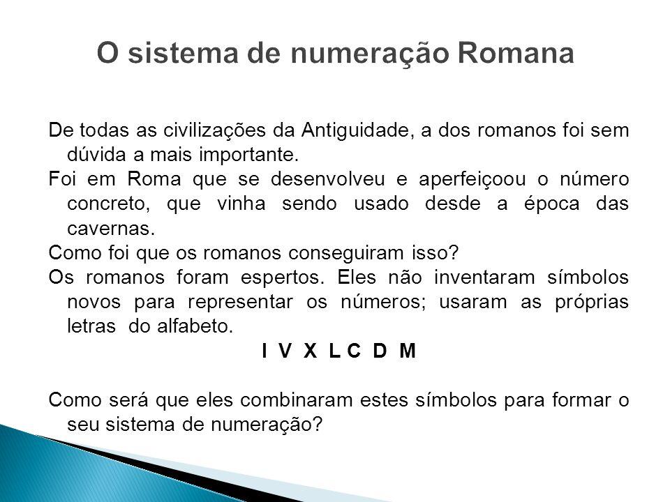 O sistema de numeração Romana