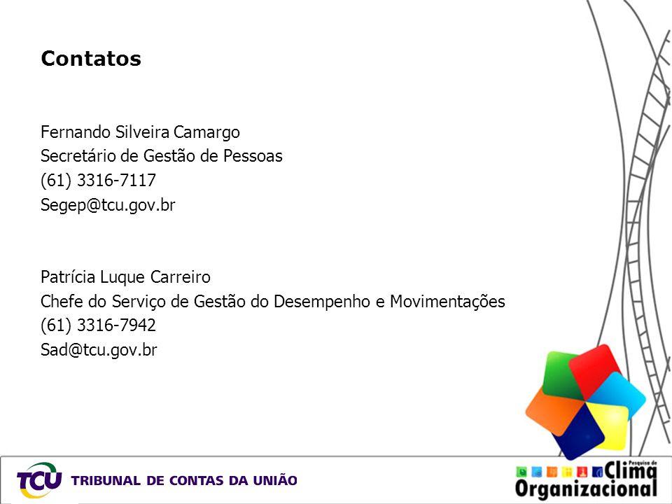 Contatos Fernando Silveira Camargo Secretário de Gestão de Pessoas