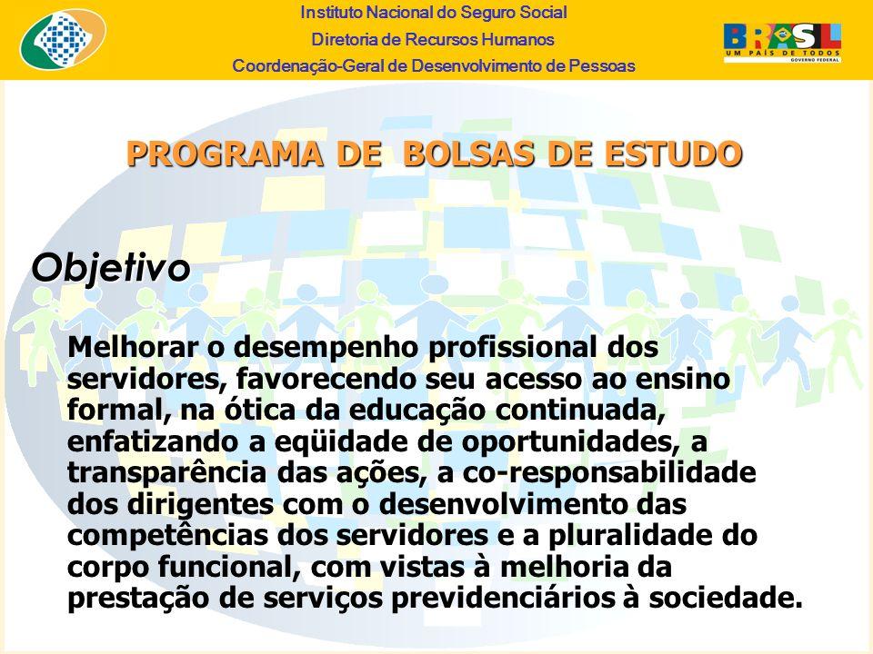 Objetivo PROGRAMA DE BOLSAS DE ESTUDO