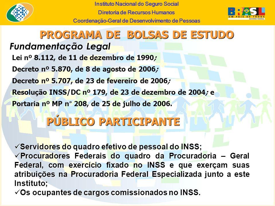PROGRAMA DE BOLSAS DE ESTUDO