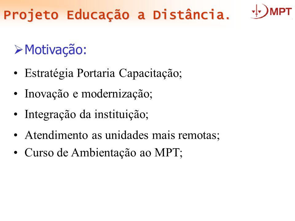 Projeto Educação a Distância.