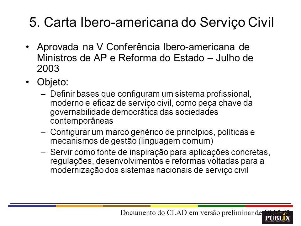 5. Carta Ibero-americana do Serviço Civil