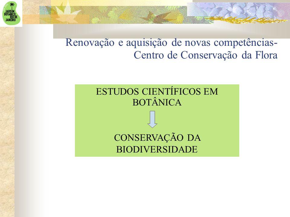 Renovação e aquisição de novas competências- Centro de Conservação da Flora