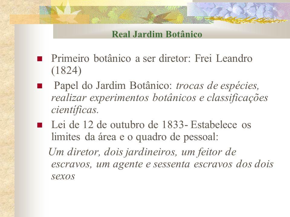 Primeiro botânico a ser diretor: Frei Leandro (1824)