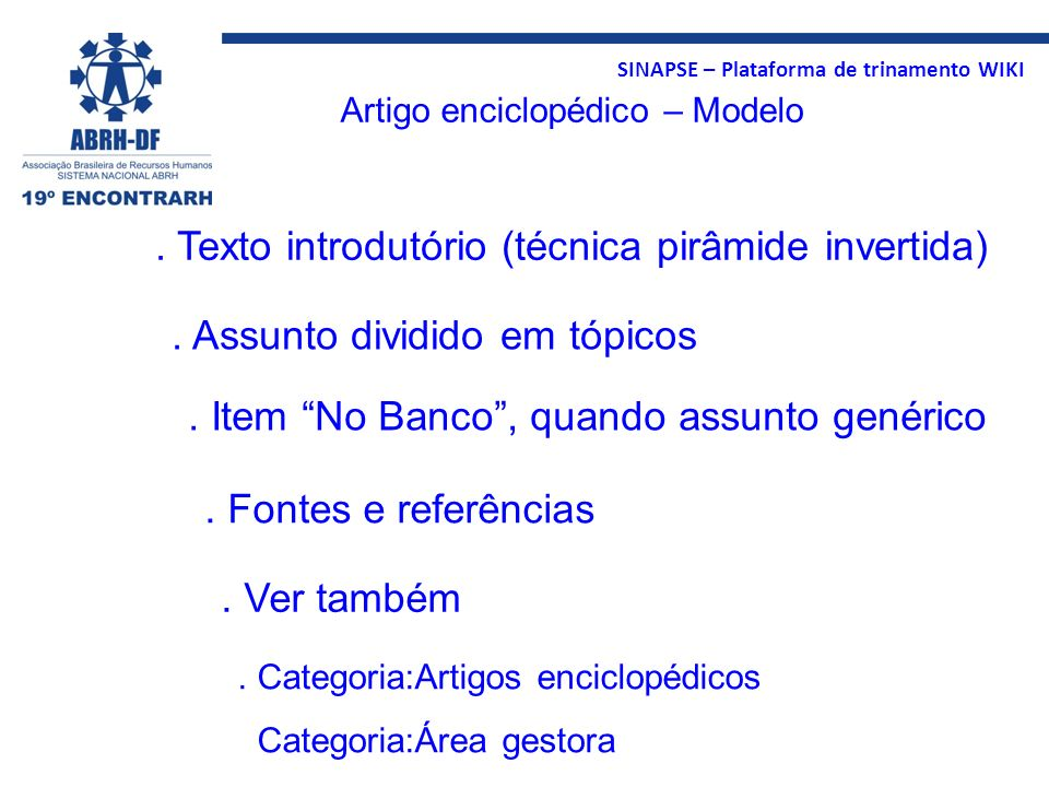 . Texto introdutório (técnica pirâmide invertida)