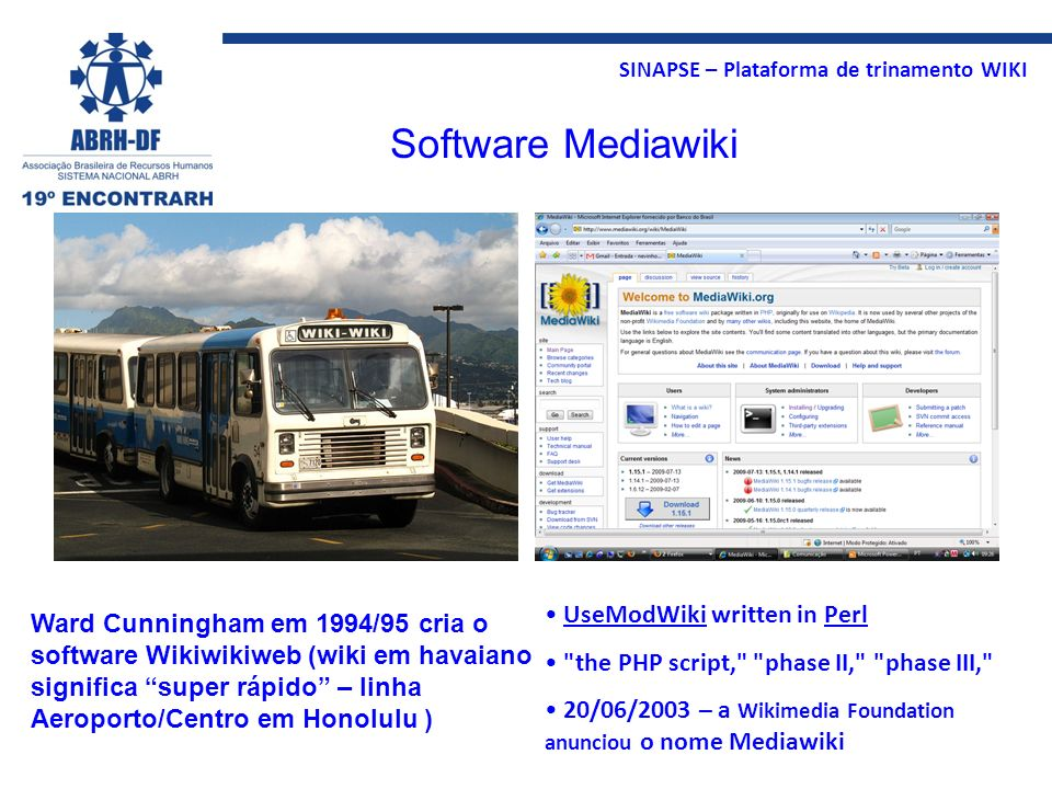 Software Mediawiki UseModWiki written in Perl