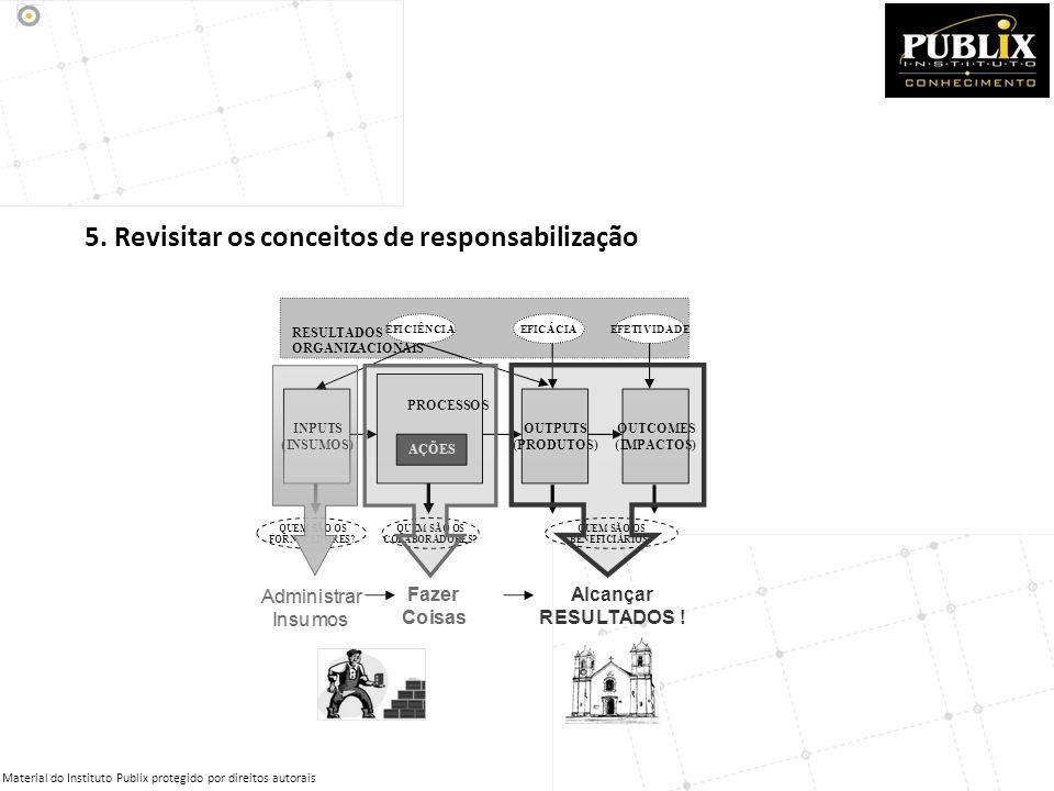 5. Revisitar os conceitos de responsabilização