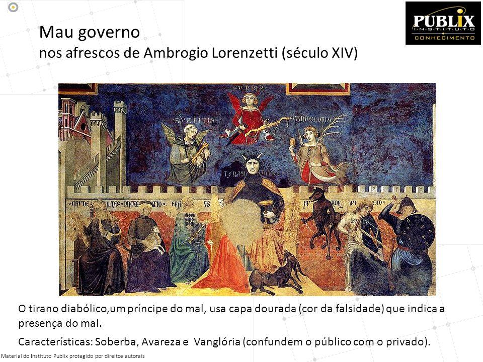 Mau governo nos afrescos de Ambrogio Lorenzetti (século XIV)