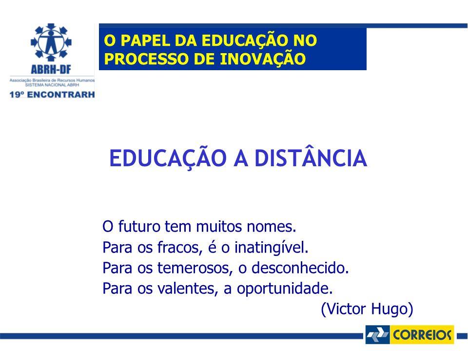 EDUCAÇÃO A DISTÂNCIA O PAPEL DA EDUCAÇÃO NO PROCESSO DE INOVAÇÃO