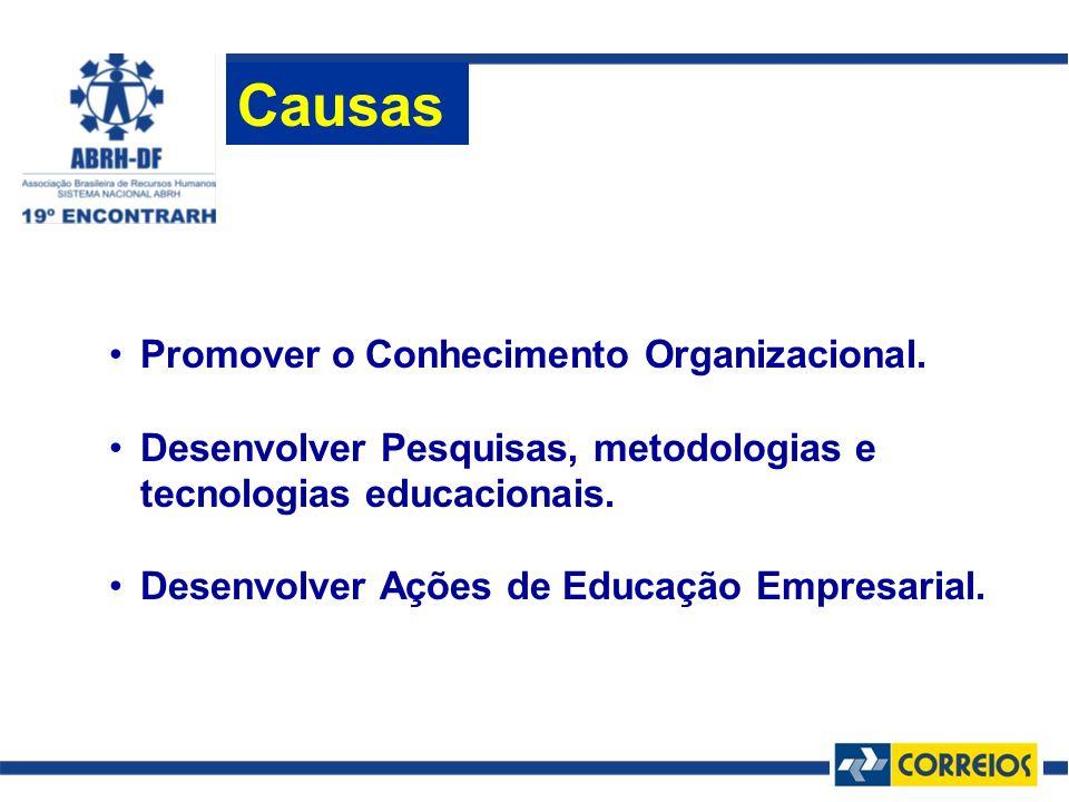 Causas Promover o Conhecimento Organizacional.