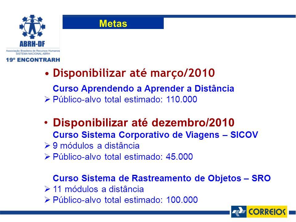 Disponibilizar até março/2010