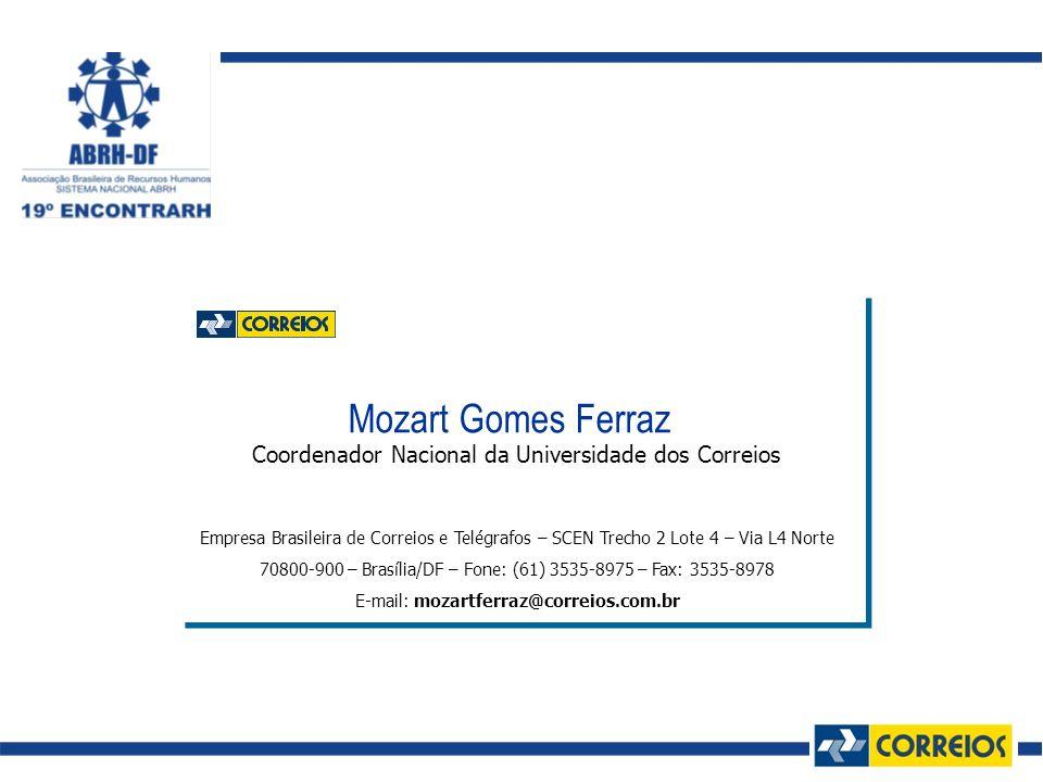 Mozart Gomes Ferraz Coordenador Nacional da Universidade dos Correios