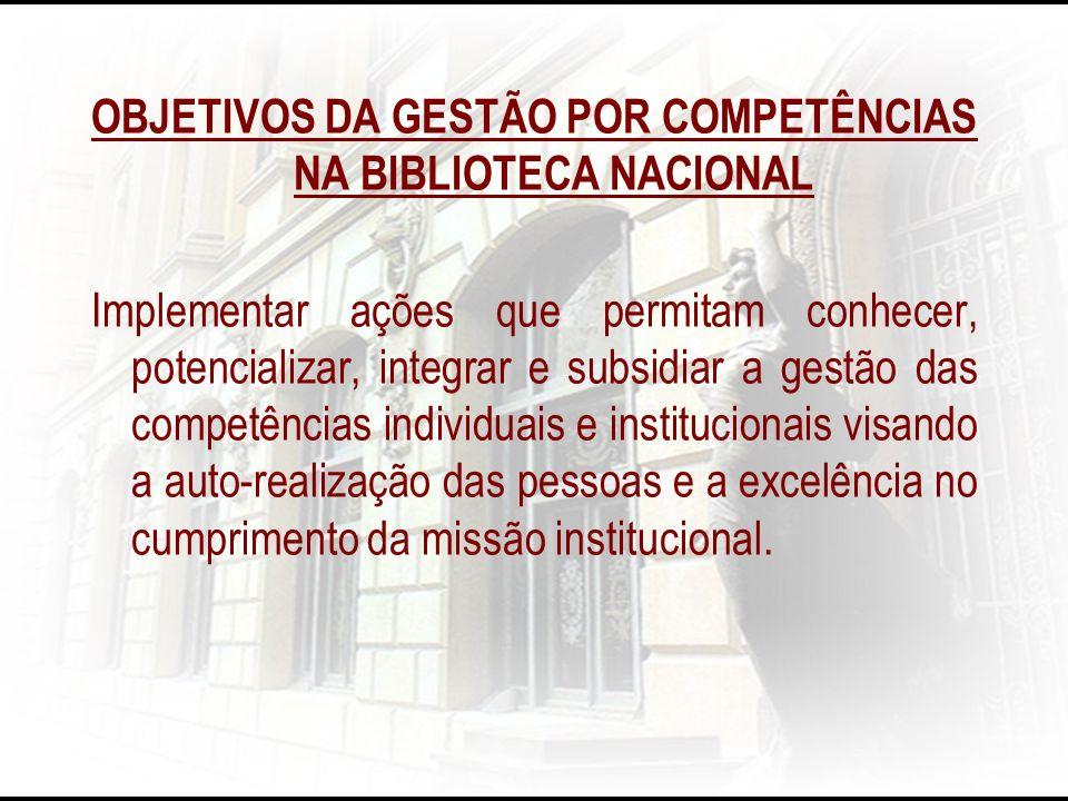 OBJETIVOS DA GESTÃO POR COMPETÊNCIAS NA BIBLIOTECA NACIONAL