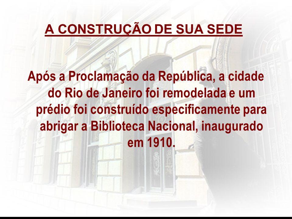 A CONSTRUÇÃO DE SUA SEDE