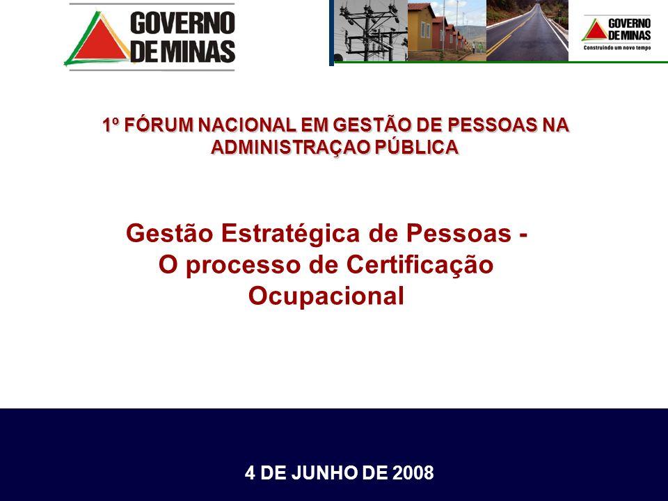 Gestão Estratégica de Pessoas - O processo de Certificação Ocupacional