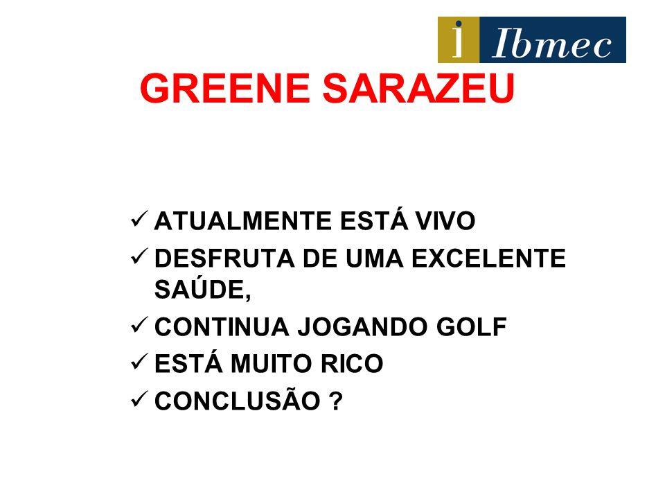 GREENE SARAZEU ATUALMENTE ESTÁ VIVO DESFRUTA DE UMA EXCELENTE SAÚDE,
