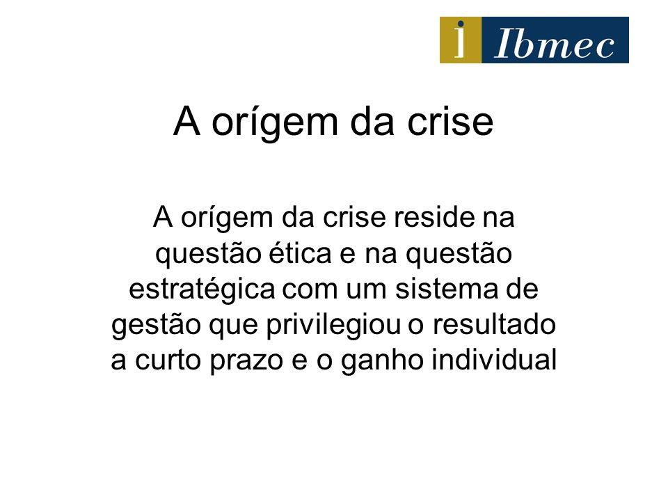 A orígem da crise