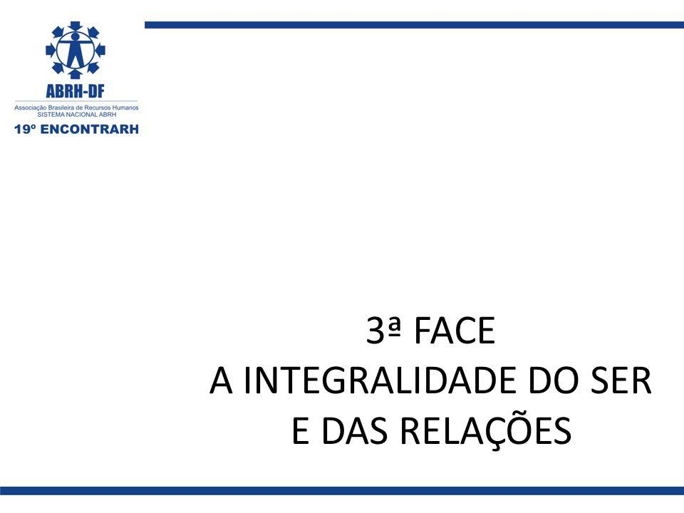 3ª FACE A INTEGRALIDADE DO SER E DAS RELAÇÕES