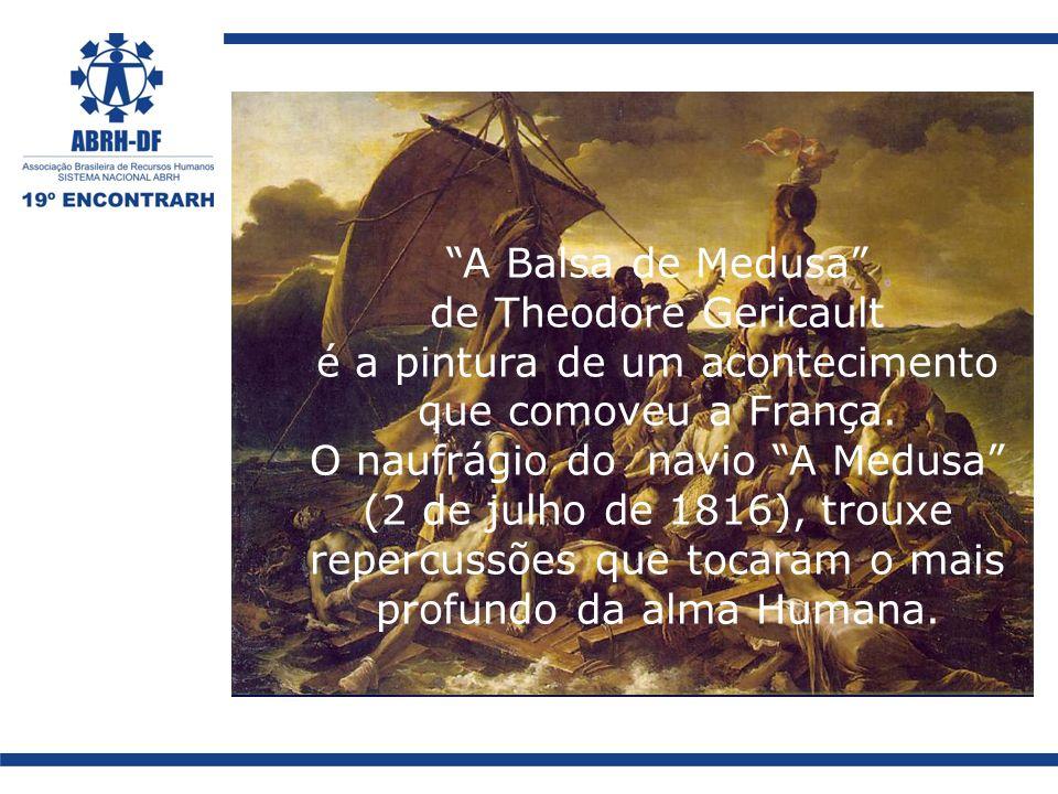 A Balsa de Medusa de Theodore Gericault é a pintura de um acontecimento que comoveu a França.