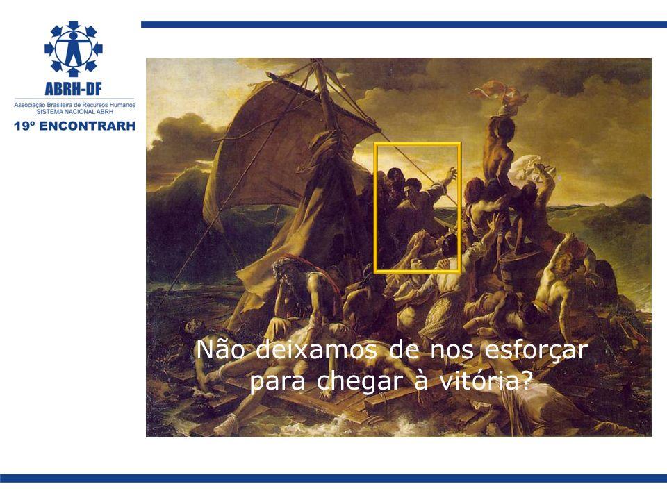 Não deixamos de nos esforçar para chegar à vitória