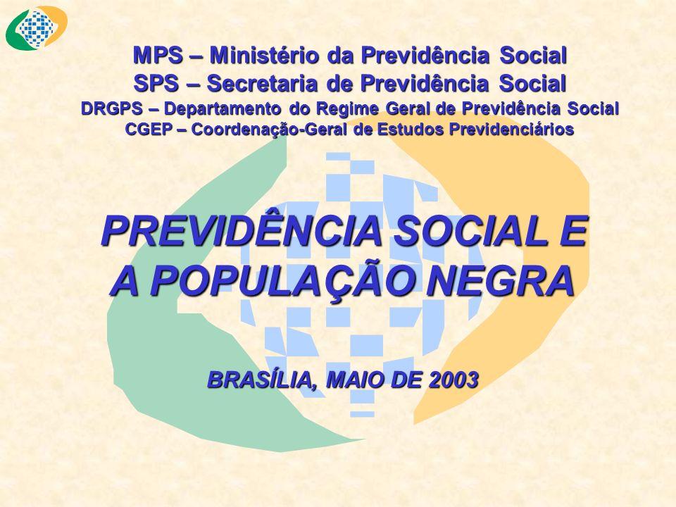PREVIDÊNCIA SOCIAL E A POPULAÇÃO NEGRA