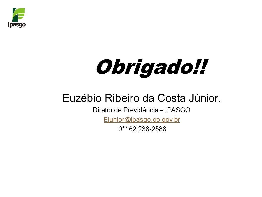 Obrigado!! Euzébio Ribeiro da Costa Júnior.