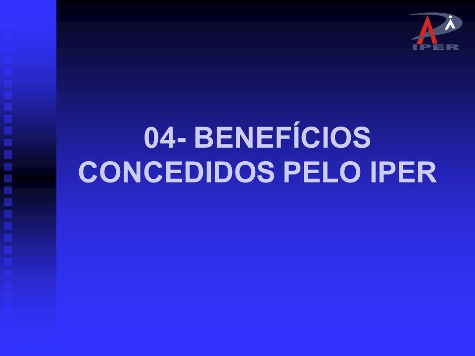 04- BENEFÍCIOS CONCEDIDOS PELO IPER