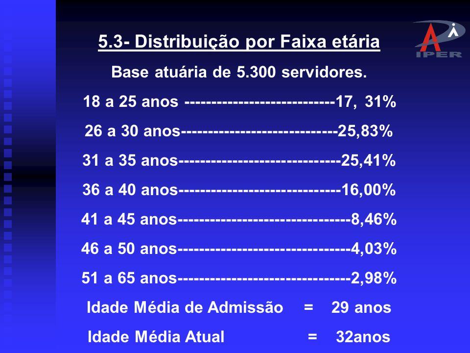 5.3- Distribuição por Faixa etária