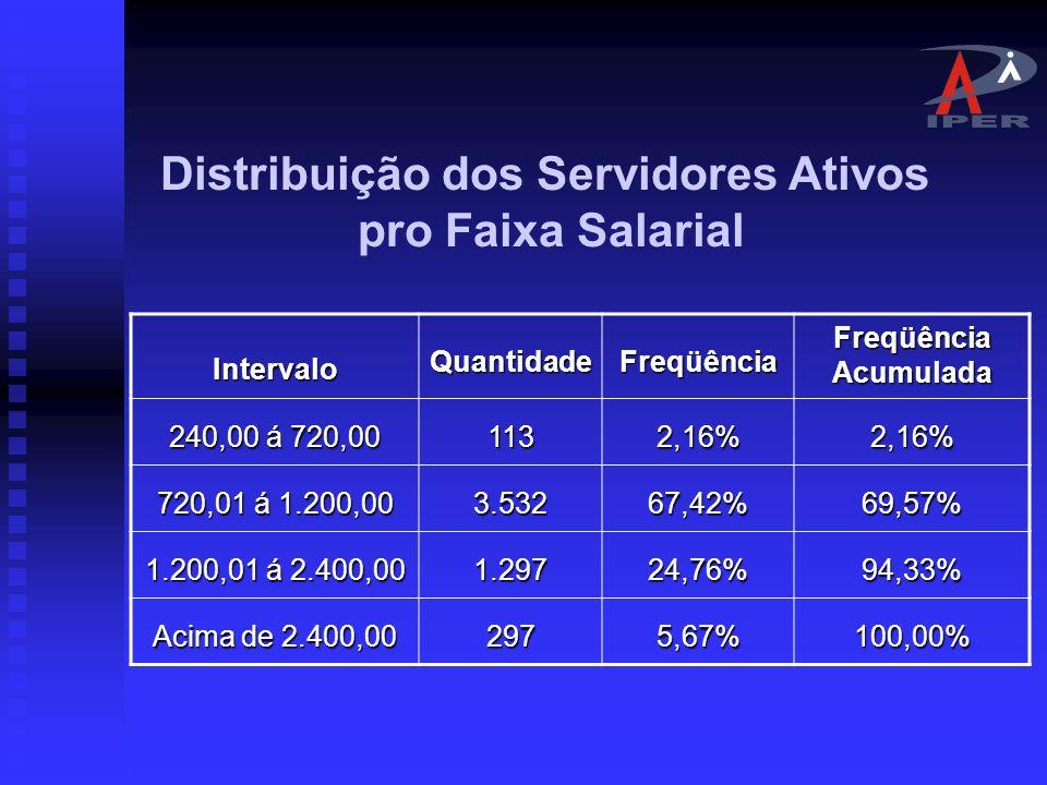 Distribuição dos Servidores Ativos