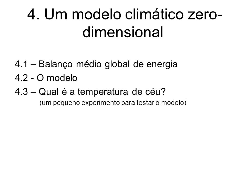 4. Um modelo climático zero-dimensional