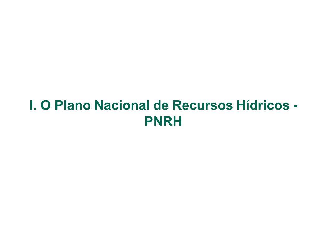 I. O Plano Nacional de Recursos Hídricos - PNRH
