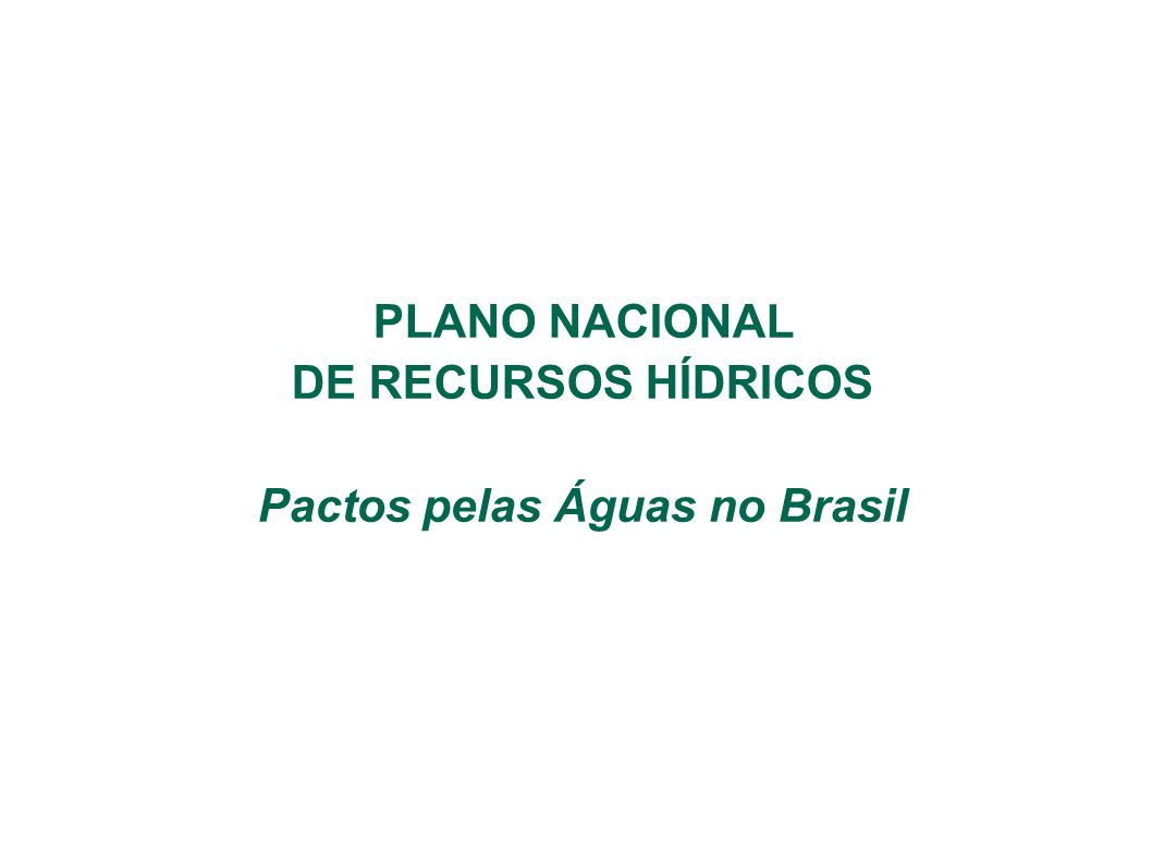 Pactos pelas Águas no Brasil