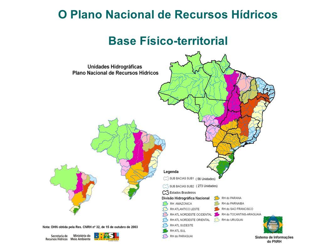 O Plano Nacional de Recursos Hídricos Base Físico-territorial