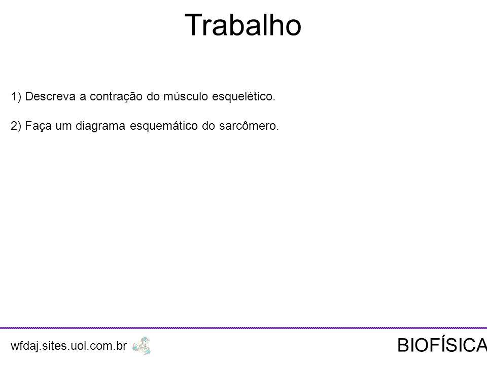 Trabalho BIOFÍSICA 1) Descreva a contração do músculo esquelético.