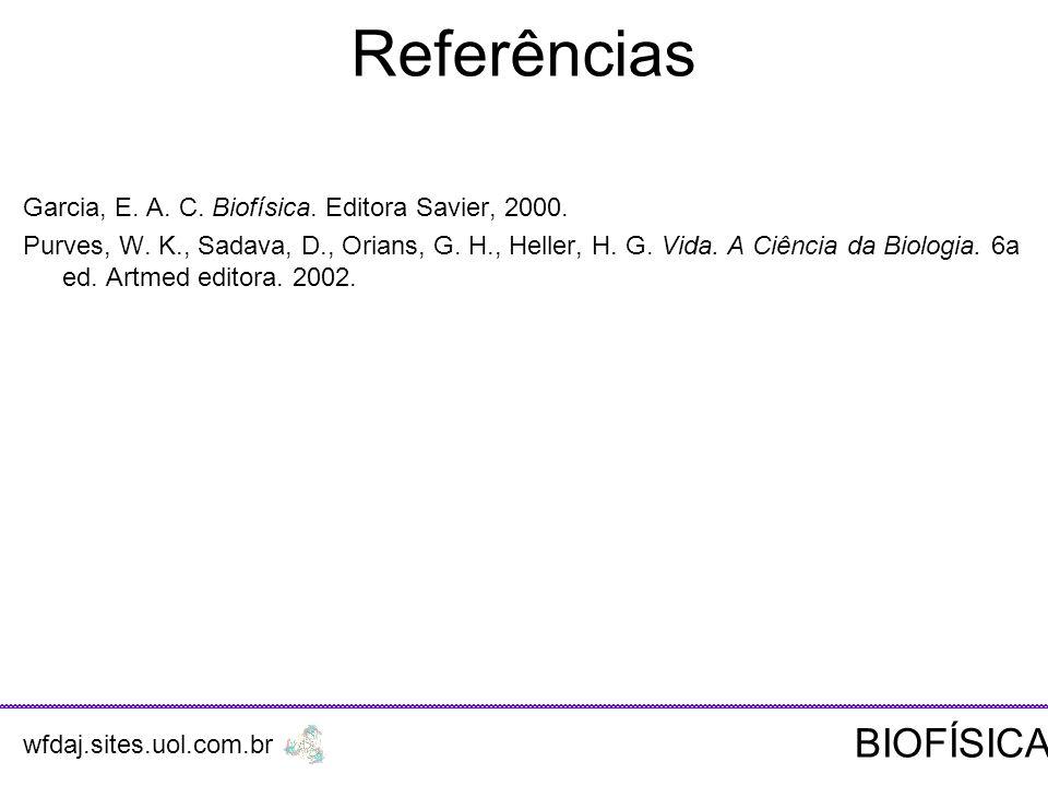 Referências BIOFÍSICA