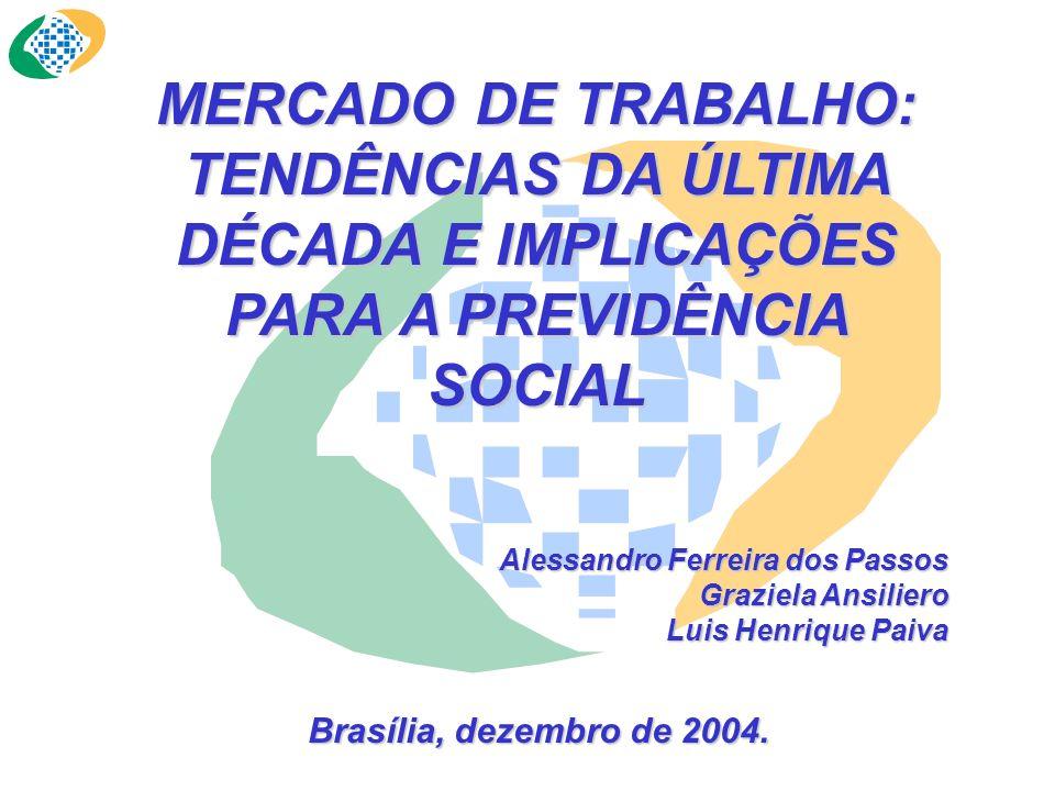 MERCADO DE TRABALHO: TENDÊNCIAS DA ÚLTIMA DÉCADA E IMPLICAÇÕES PARA A PREVIDÊNCIA SOCIAL