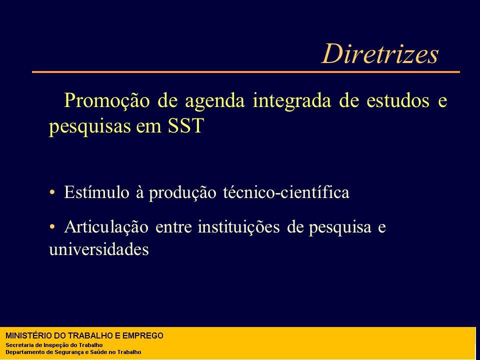 Diretrizes Promoção de agenda integrada de estudos e pesquisas em SST