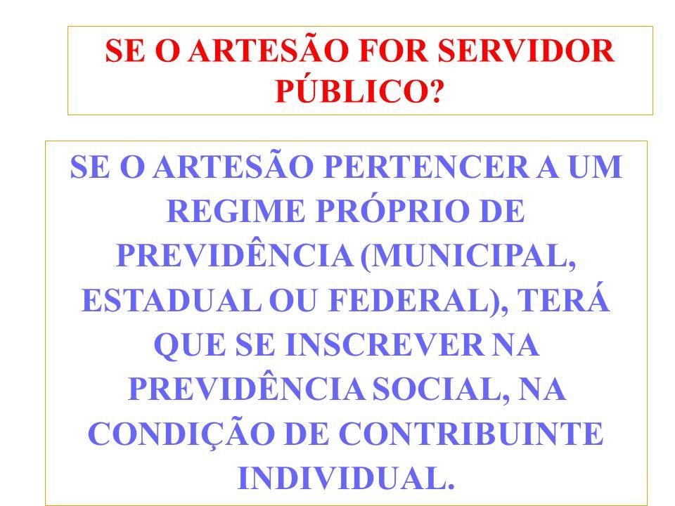 SE O ARTESÃO FOR SERVIDOR PÚBLICO