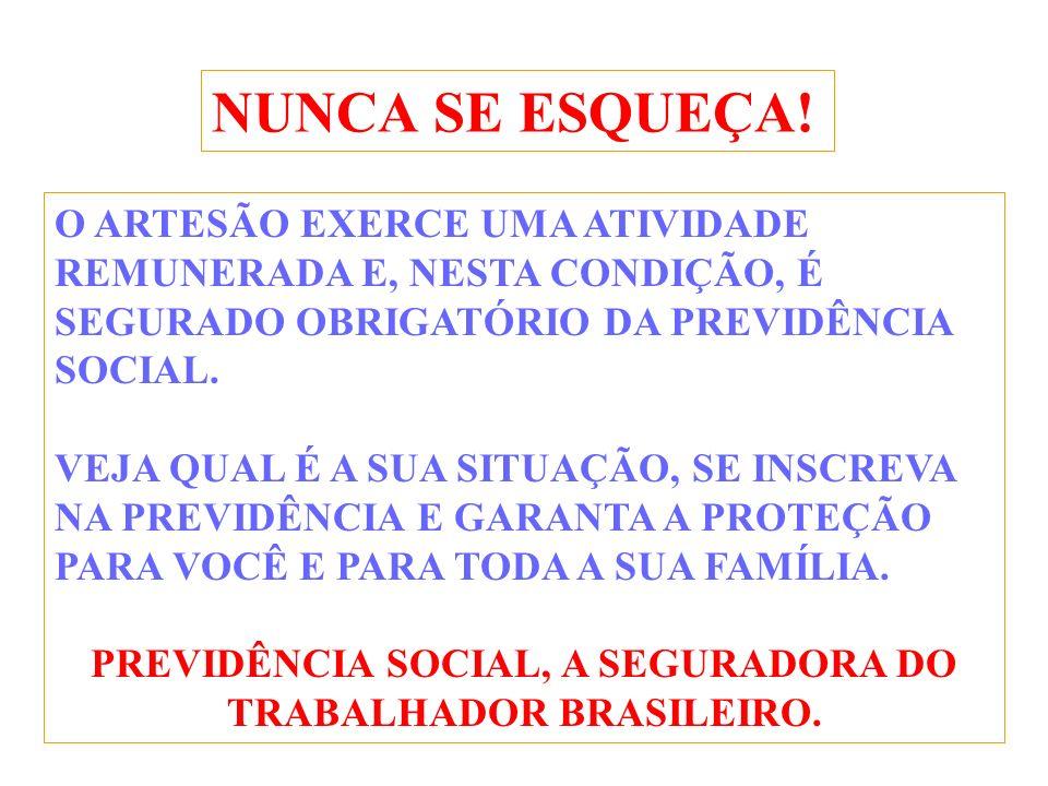 PREVIDÊNCIA SOCIAL, A SEGURADORA DO TRABALHADOR BRASILEIRO.