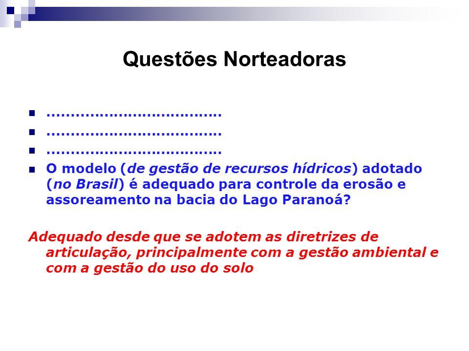 Questões Norteadoras .....................................