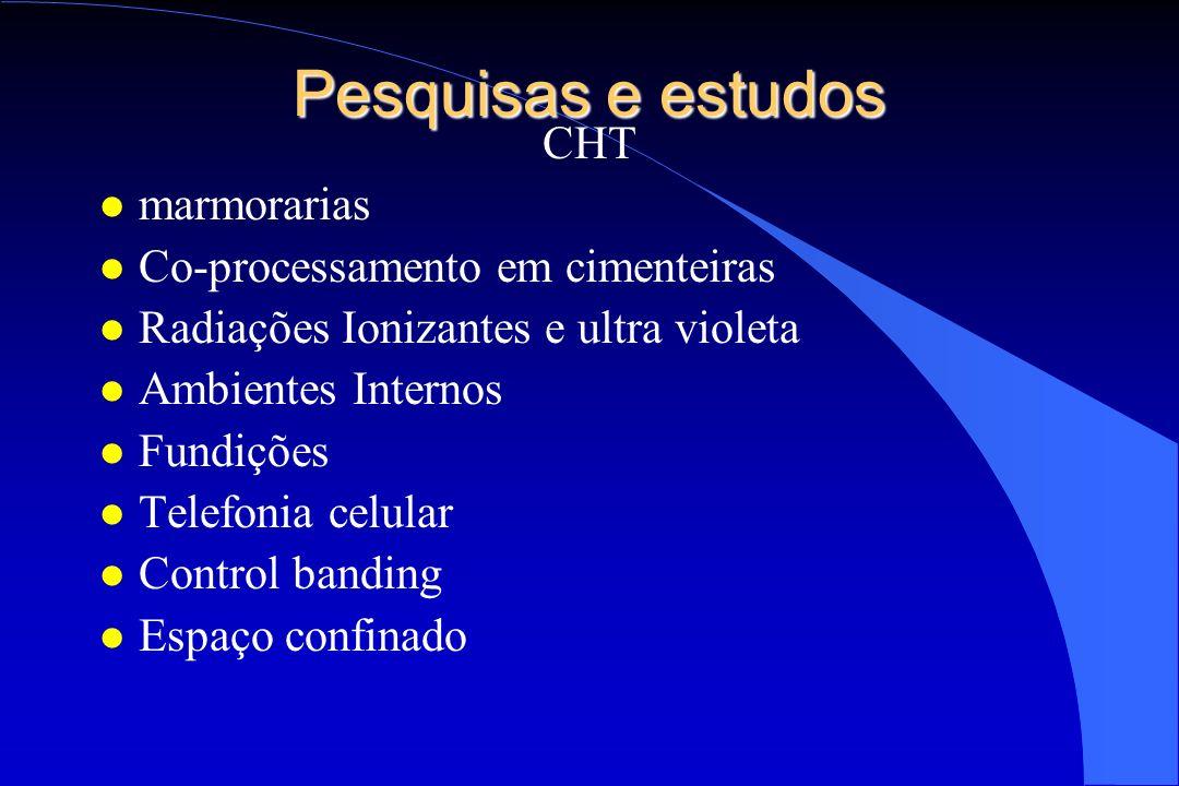 Pesquisas e estudos CHT marmorarias Co-processamento em cimenteiras