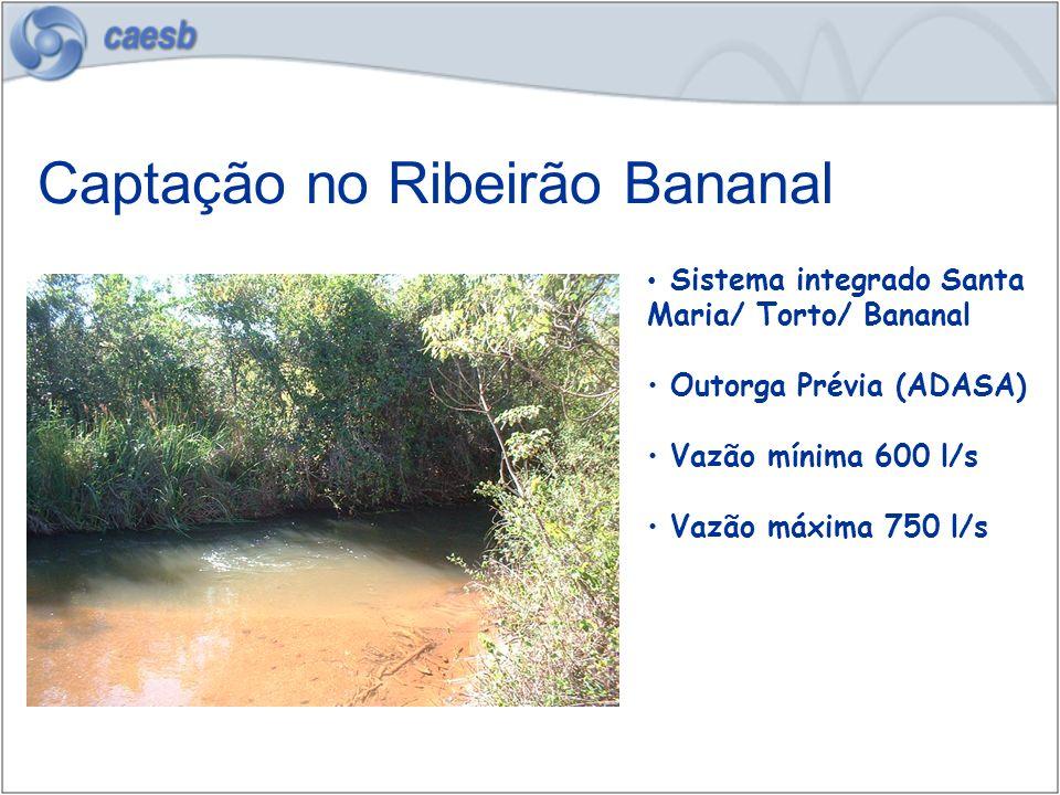 Captação no Ribeirão Bananal
