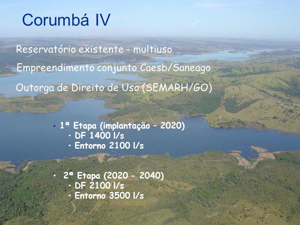 Corumbá IV Reservatório existente - multiuso