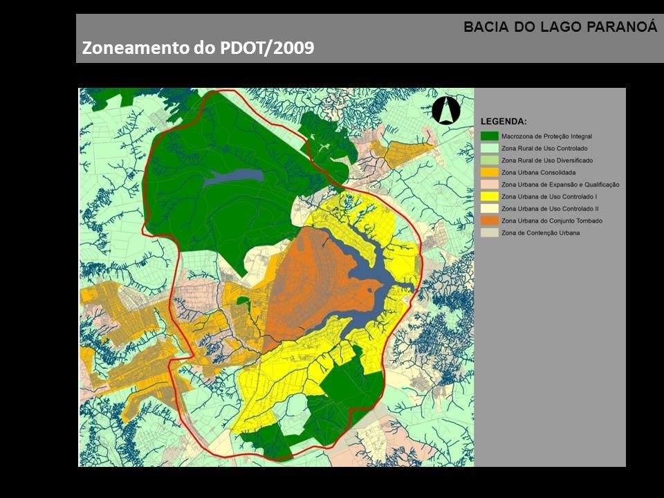 BACIA DO LAGO PARANOÁ Zoneamento do PDOT/2009