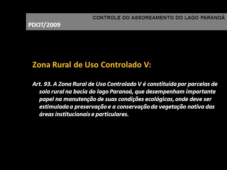 Zona Rural de Uso Controlado V: