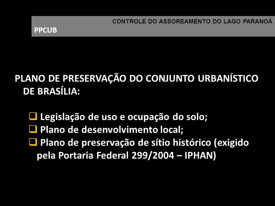 PLANO DE PRESERVAÇÃO DO CONJUNTO URBANÍSTICO DE BRASÍLIA: