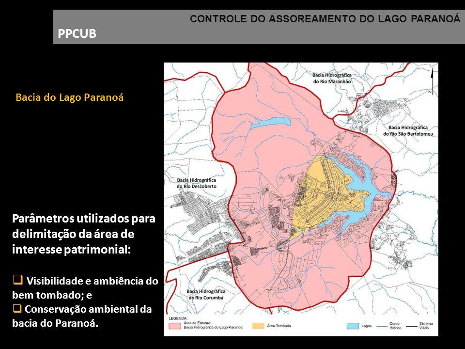 CONTROLE DO ASSOREAMENTO DO LAGO PARANOÁ