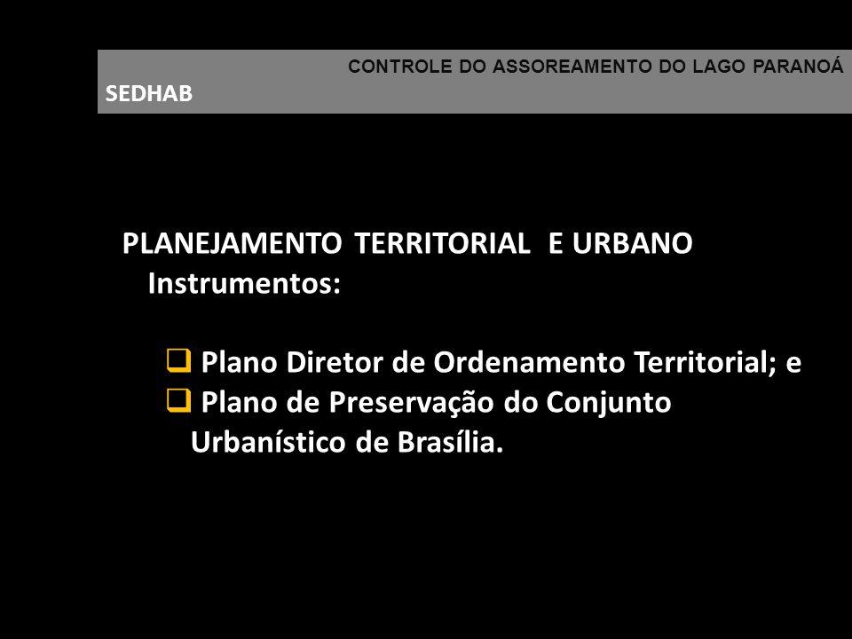PLANEJAMENTO TERRITORIAL E URBANO Instrumentos: