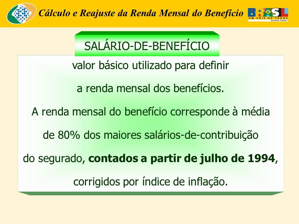 Cálculo e Reajuste da Renda Mensal do Benefício